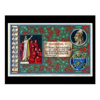 Old Postcard - Antipope Alexander V