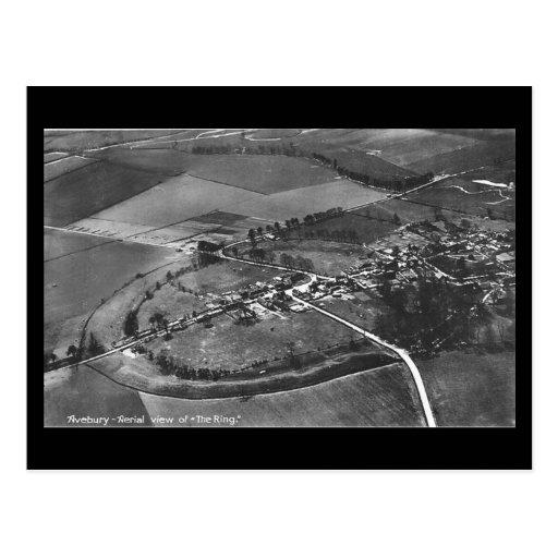 Old Postcard - Avebury, Wiltshire