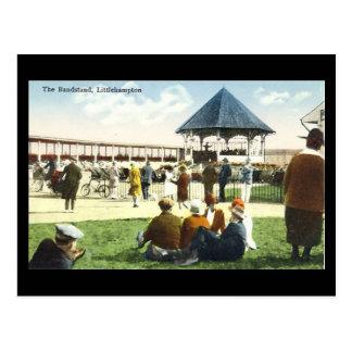 Old Postcard - Bandstand, Littlehampton, Sussex