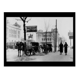 Old Postcard - Belgrade, Republic Square