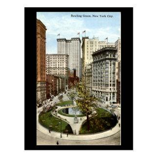 Old Postcard - Bowling Green, New York City