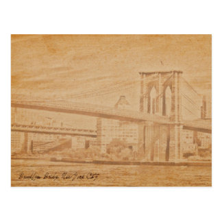 old postcard Brooklyn Bridge