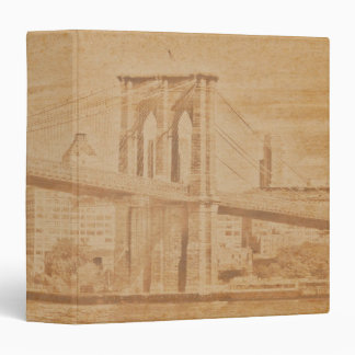 "Old Postcard Brooklyn Bridge 1.5"" Photo Album 3 Ring Binder"