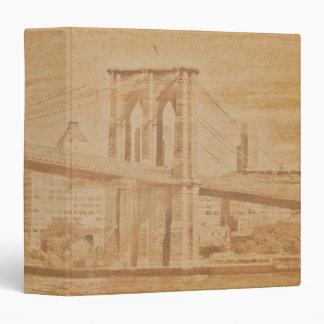 "Old Postcard Brooklyn Bridge 1.5"" Photo Album 3 Ring Binder"