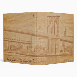 "Old Postcard Brooklyn Bridge 1"" Photo Album Binder"