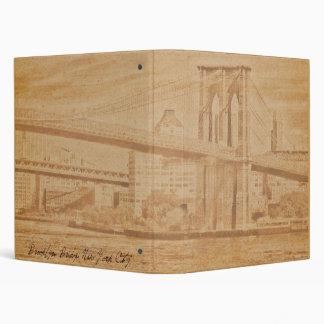"Old Postcard Brooklyn Bridge 1"" Photo Album Binder"