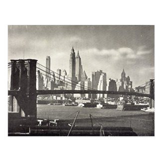 Old Postcard - Brooklyn Bridge, NYC