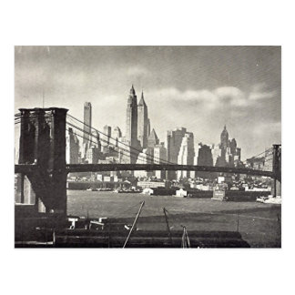 Old Postcard - Brooklyn Bridge, NYC