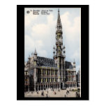 Old Postcard - Brussels Town Hall