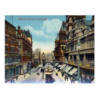 Old Postcard - Church Street, Liverpool