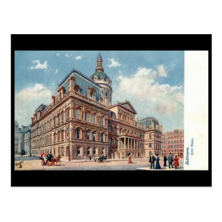 Old Postcard - City Hall, Baltimore, Maryland