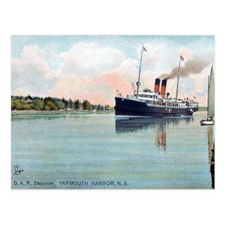 Old Postcard - DAR Steamer, Yarmouth, N