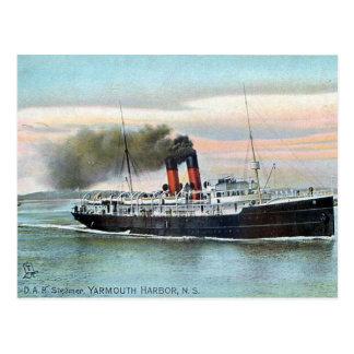 Old Postcard - DAR Steamer, Yarmouth, NS