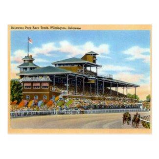 Old Postcard, Delaware Park Race Track, Wilmington Postcard