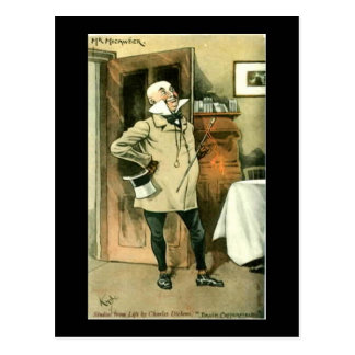 Old Postcard, Dickens, Copperfield, Mr Micawber