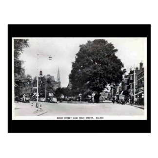 Old Postcard, Ealing, Bond St and High St Postcard