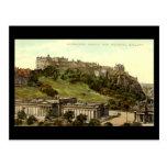 Old Postcard, Edinburgh Castle & National Gallery