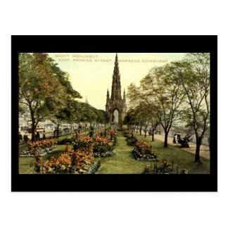 Old Postcard, Edinburgh, Scott Monument Postcard