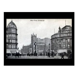 Old Postcard, Edinburgh, West End