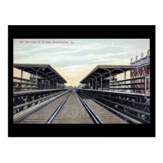 Old Postcard - Elevated RR, Philadelphia PA