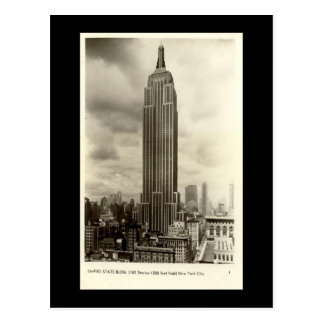 Old Postcard, Empire State Building, New York City Post Card