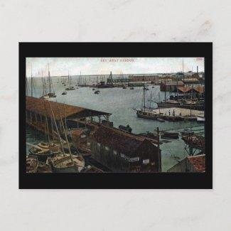 Old Postcard - Florida, Key West Harbour postcard
