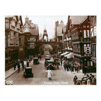 Old Postcard - Foregate Street, Chester, England