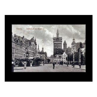 Old Postcard Gdansk Danzig - Kohlenmarkt