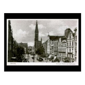 Old Postcard, Gdansk/Danzig - Lange Markt Postcard