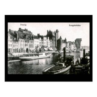 Old Postcard Gdansk Danzig Langebrucke