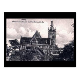 Old Postcard Gdansk Danzig Poland