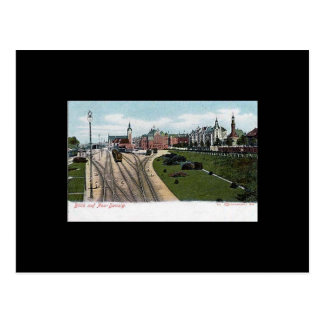 Old Postcard Gdansk Danzig - Railway Station