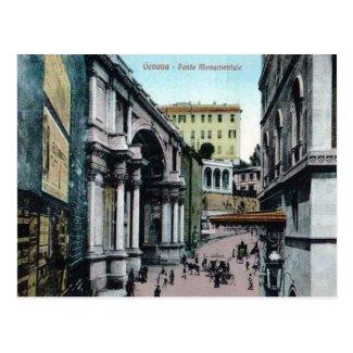 Old Postcard - Genoa, Italy