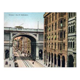 Old Postcard - Genova, Italy