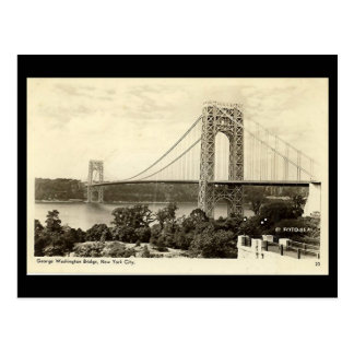 Old Postcard, George Washington Bridge, New York C Postcard