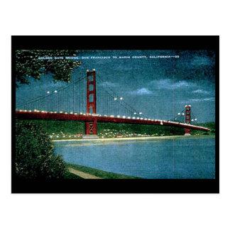 Old Postcard - Golden Gate Bridge, San Francisco