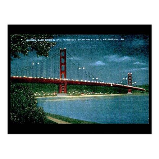 Old Postcard Golden Gate Bridge San Francisco Zazzle