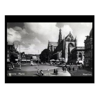 Old Postcard - Groote Markt, Haarlem, Netherlands