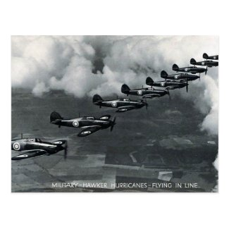 Old Postcard - Hawker Hurricanes