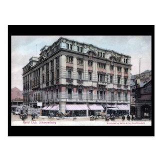 Old Postcard - Johannesburg, the Rand Club