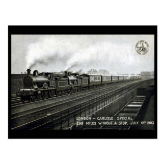 Old Postcard -L&NWR, London to Carlisle Special