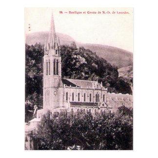 Old Postcard - La Basilique, Lourdes