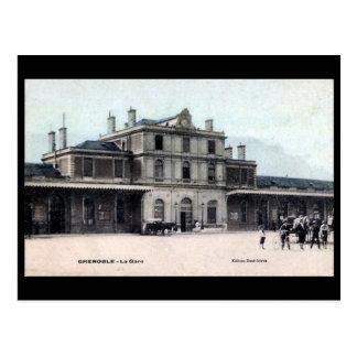 Old Postcard - La Gare, Grenoble, France