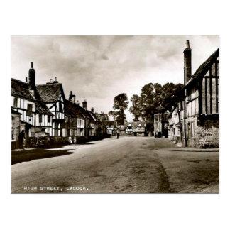 Old Postcard - Lacock, Wiltshire, England