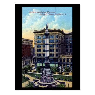 Old Postcard - Lafayette Square, Buffalo, NY