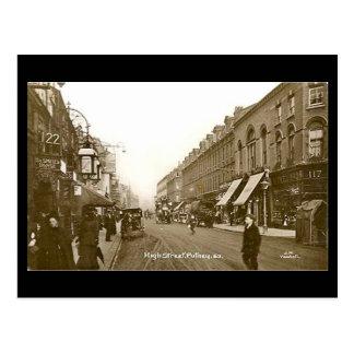 Old Postcard - London, High St Putney, 1918