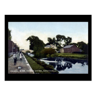 Old Postcard, London, Southall, Canal Postcard