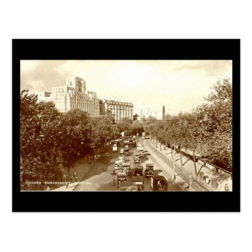 Old Postcard, London, The Embankment Postcard