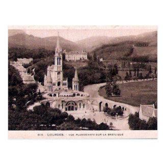 Old Postcard - Lourdes, La Basilique