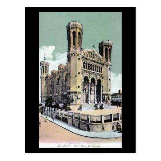 Old Postcard - Lyon, France (Notre-Dame de Fourvie